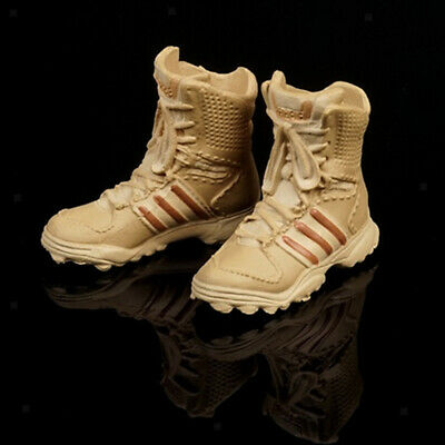 1//6 Khaki Military Army Combat Boots For 12 Inch Male Hot Toys Action Figure