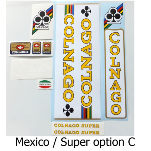 Colnago Mexico decal set Nuovo Mexico  one set per sale choices