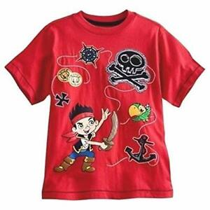 Disney Store Jake And The Never Land Pirates Short Sleeve T Shirt Boy Size 7//8