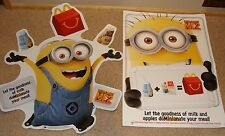 2013 DESPICABLE ME 2 MCDONALDS STORE WINDOW SIGN AND WINDOW POSTER/SUCTION CUPS