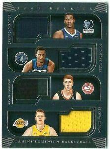 Jaren-Jackson-Kevin-Huerter-Wagner-2018-19-Panini-Dominion-Quad-Rookies-Relic-99