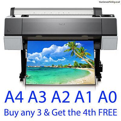 Gloss Satin or MATT Full Colour Poster Printing 200gsm A0 A1 A2 A3 A4