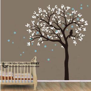Owl Hoot Star Tree Wall Stickers Vinyl Decal Kids Nursery Baby Room Decor Art AU