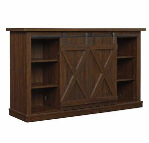 rustic tv stand console up to 60 barn door wood farmhouse entertainment center ebay. Black Bedroom Furniture Sets. Home Design Ideas