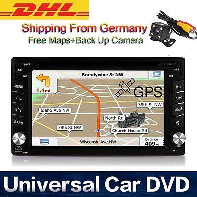 AUTORADIO Car Radio Double 2 Din DVD Player GPS Navigation MAPPE NAVIGATORE DHL