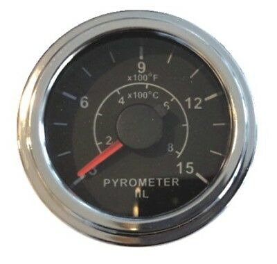 2M Chrome 2//52mm Long K thermocouple IIL Pyrometer 0-1500F EGT Gauge with 6.5 ft