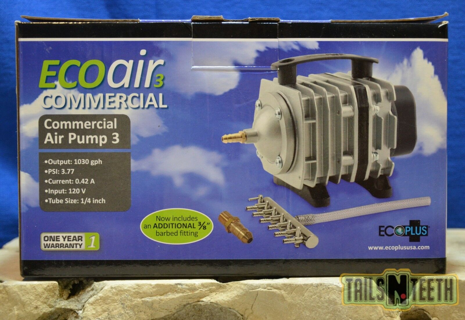EcoPlus® Commercial Air Pump - EcoAir3 Commercial - 1030gph - 3.77PSI - 35watt