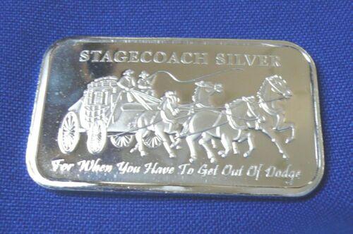 1//4 OZ Divisible Pieces 1 TROY OZ STAGECOACH .999 SILVER BAR