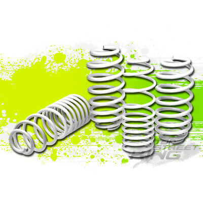 FOR 10-13 JDM NISSAN MARCH//MICRA COIL SUSPENSION WHITE RACING LOWERING SPRINGS