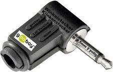 Lötversion 90° Winkelstecker Klinkenstecker 3,5mm z.Löten 2polig Klinke NEU&OVP