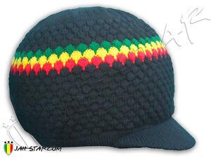 7a5a89ea81 Bonnet Rasta Roots Reggae Dreadlocks avec visière | eBay