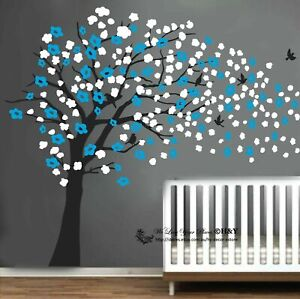 Blowing Tree Wall Stickers Vinyl Decal Art Mural Removable Kids Nursery Decor