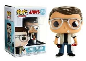 Lo Shark Jaws Chief Brody Pop Funko Movies Vinyl Figure N°755