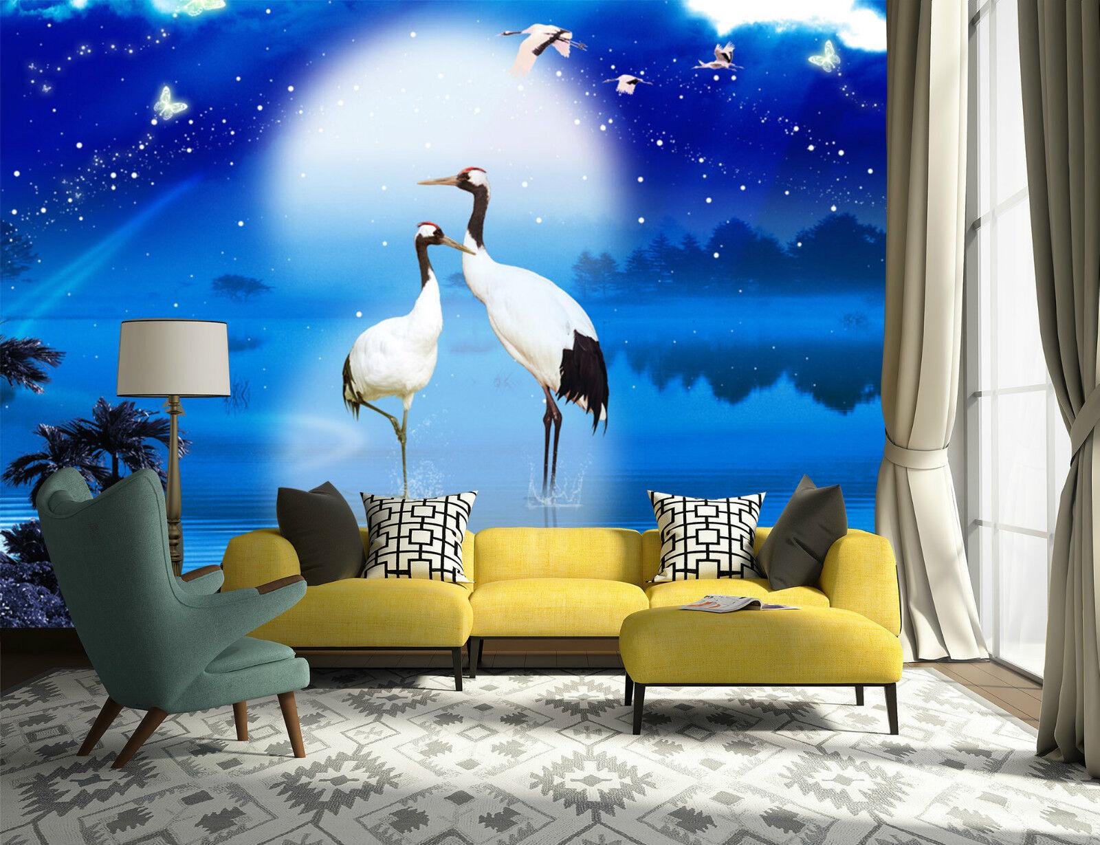 3D Lune Vous 55 Photo Papier Peint en Autocollant Murale Plafond Chambre Art