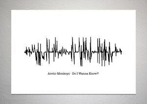 Details about Arctic Monkeys - Do I Wanna Know? - Sound Wave Print Poster  Art