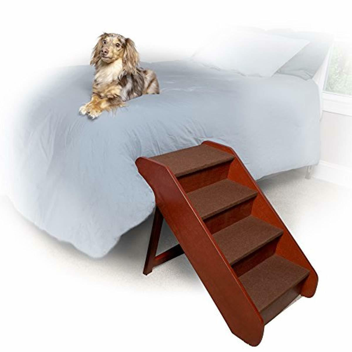 PetSafe Solvit PupSTEP Wood Pet Stairs, Foldable Steps for Dogs and Cats, Best f