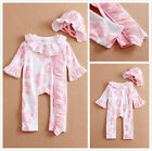 Newborn Toddler Baby Girls Romper Bodysuit Outfits Clothes Set Pajamas 0 3 6 9 M