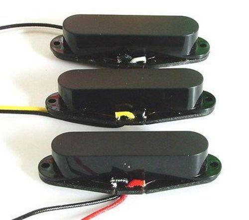 Artec Alnico 5 conjunto de de de recolección de bobina única Strat Negra Cubierta Cerrada 13152c
