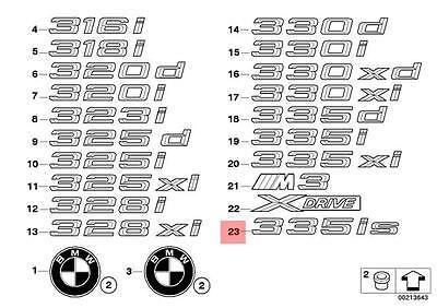 Genuine BMW E92 E93 335is Emblem /'/'335is/'/' Rear Trunk Lid OEM 51147364378