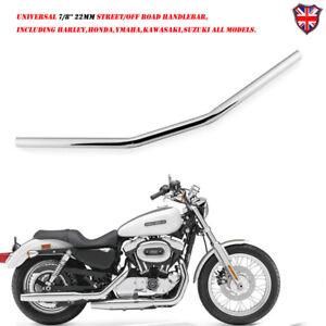7-8-034-22-Mm-Chrome-Moto-Drag-Bar-Guidon-Pour-Harley-Honda-Suzuki-Yamaha