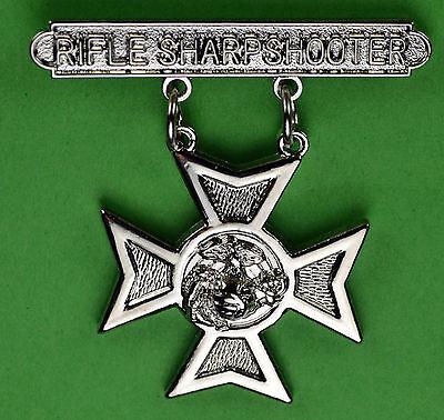 Rifle Sharpshooter Marine Corps Qualification Badge USMC