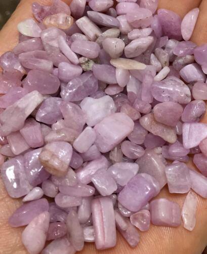 100g Beautiful Pink Morganite Gravel Lot Stone Quartz Crystal Rough Polished