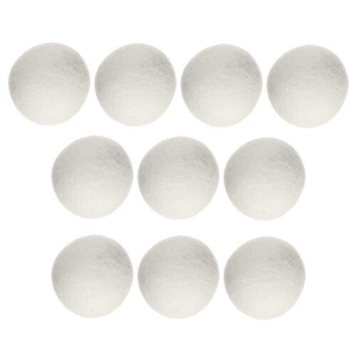 10pcs Wool Felt Wrinkle Releasing Reusable Laundry Steamy Dryer Ball Washer TN2F