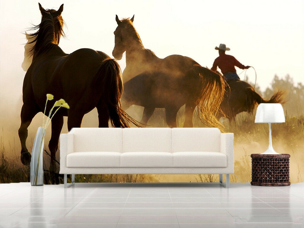 3D  Horses Rider  75 Wall Paper Murals Wall Print Wall Wallpaper Mural AU Kyra