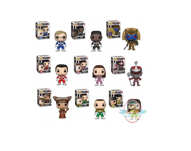 POP  TV Power Rangers Series 7 Set of 9 Vinyl Figures by Funko