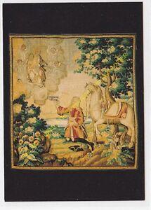 CP Postcard Tapestry The Lord Of La Borne Aux Feet Of La Virgin