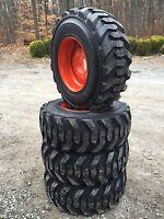 4 12-16.5 Deestone Skid Steer Tires & Wheels/rims For Bobcat-12x16.5-12 Ply