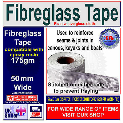 Fibreglass Open Weave Woven Cloth Tape For Polyester /& Epoxy Resins 50mm x 10m