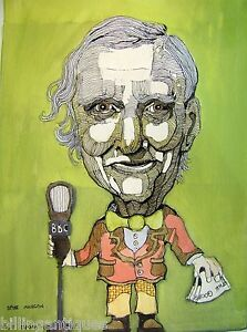 CARICATURE-SPIKE-MILLIGAN-ANGUS-ZAPORA-WATERCOLOUR-C1980