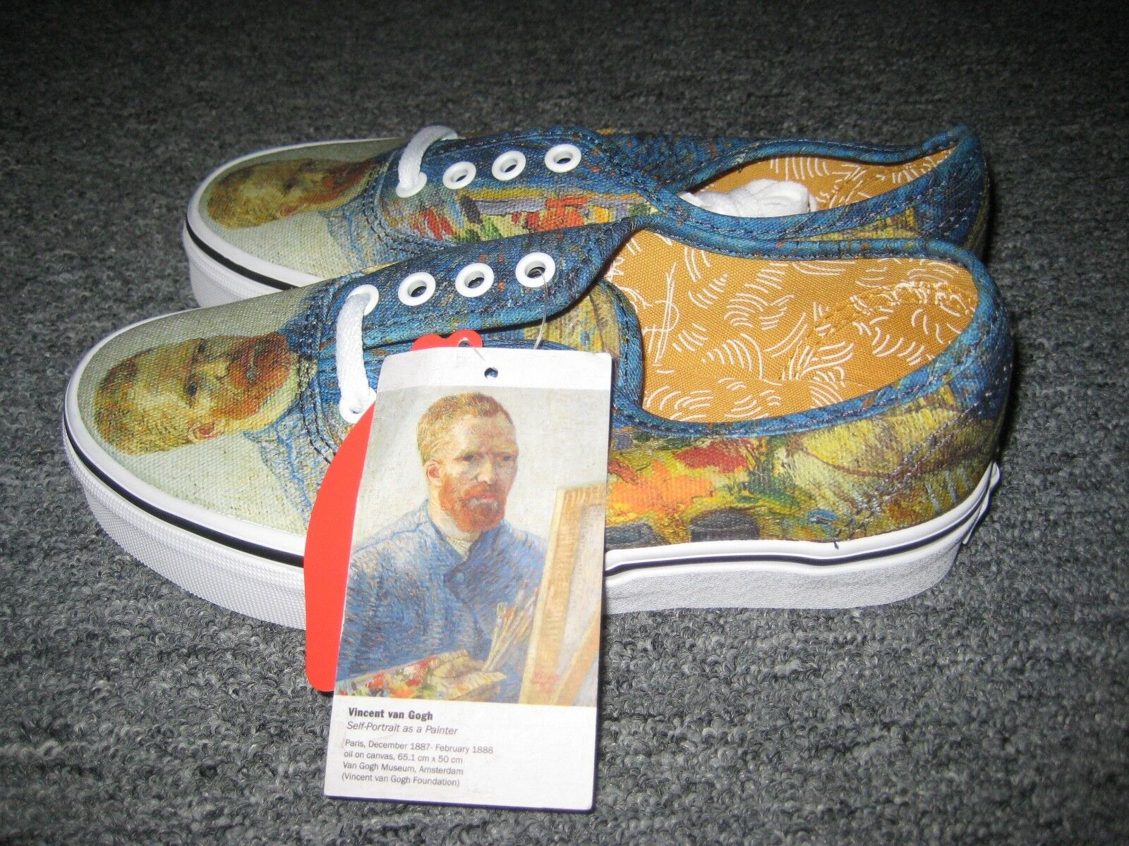 VANS x VAN GOGH MUSEUM  Self-Portrait    Sneakers Size 3.5 Men, 5 Women NIB NWT 34e799