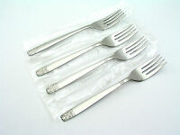 (4) Aztec - Wm A Rogers / Oneida - Salad Forks - Stainless - Brand