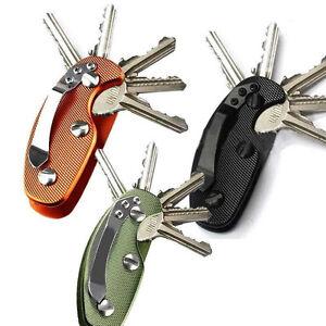 alluminio-chiave-SUPPORTO-Organizer-CLIP-RACCOGLITORE-Portachiavi-CASE-EDC