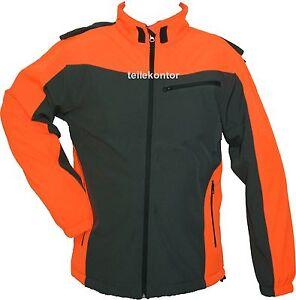 Kleidung Elegantes Und Robustes Paket Süß GehäRtet Softshell-jacke,softshell-forstjacke,grau/orange,größe L Neu!!