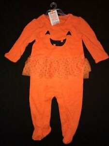 NEW NWT girls newborn 2 pc HALLOWEEN SET TOP PANTS to cute to spook GHOST CUTE