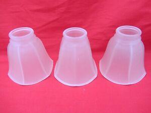 3 verre dépoli blanc tulipe à volants verre Ventilateur de plafond Lampe à Lumière Ombre Hexagone