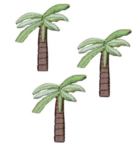 Tropical Palmier Appliqué Patch 3-Pack, petit, Iron on