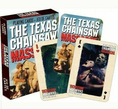 PLAYING CARD DECK TEXAS CHAINSAW MASSACRE LEATHERFACE 52274 52 CARDS NEW