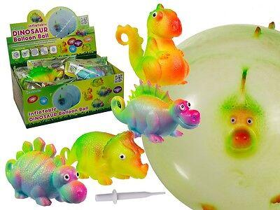 Dinosaurier Ballon wiederverwendbar Dino Luftballon Kindergeburtstag Ball 4 Stk