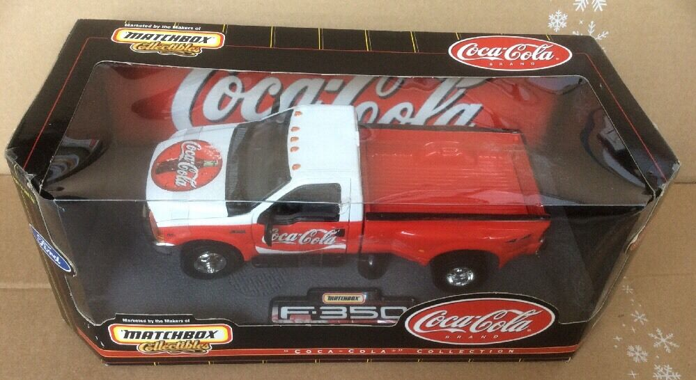 MATCHBOX COLLECTIBLES 1999 Ford F-350 Super Duty Coca-Cola Die Cast 1 24 scale
