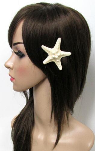 Real Starfish Hair Clip Beach Bridal Sea Shell Mermaid Boho Festival Wedding g44