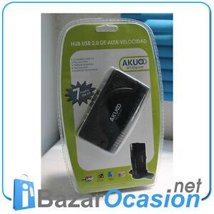 Ladron-Multipuerto-HUB-USB-2-0-7-Puertos-con-Alimentador-Splitter