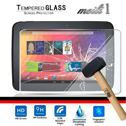 Tablet Tempered Glass Screen Protector Cover For Google Nexus 10