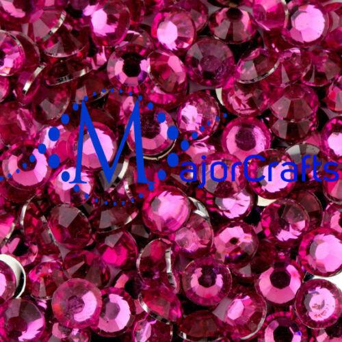 4000pcs Bright Pink 4mm ss16 Flat Back Resin Rhinestones Nail Art Craft Gems C18