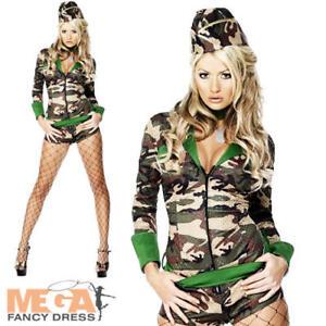 Femme Camouflage Armée Fille Uniforme Militaire Costume Robe Fantaisie