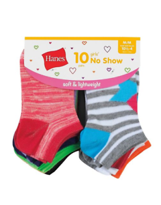 Girls/' Fashion No Show Socks 10-Pack