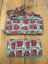 Cath Kidston DOUBLE DECKER LONDON BUS Handbag Borsetta & Set